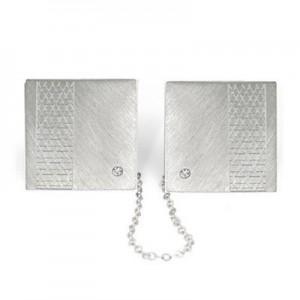 Sterling Silver 925 Tallit (Talit) Holder Star Of David  +  Diamond In Each Side