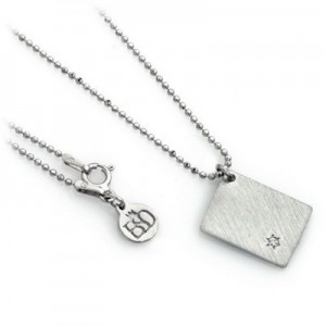 Sterling Silver 925 Pendant Yevarchecha HaShem + Diamond + Necklace