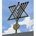 Hannukah Lamp For The Roof - Foot Height Upon Request Size 170 cm X 160 cm