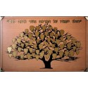 Dedication Board - Wooden Background 60 Leaves in 3 Sizes. Size 200 cm X 122 cm