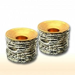 Sterling Silver Crepe Candlesticks
