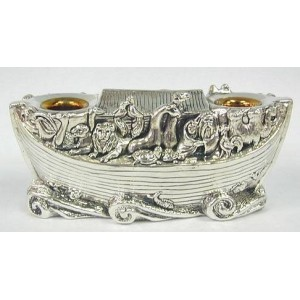 Sterling Silver Noahs Ark Candlesticks