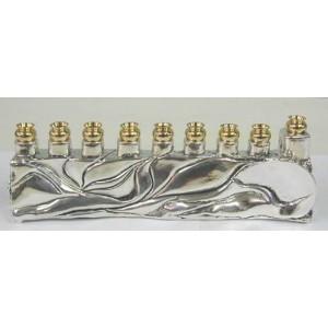 Sterling Silver Menorah Blank Hanukiya