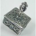 Sterling Silver Knitted Hanukkah Dreidel Yemenite Square Small Dreydle