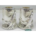 Sterling Silver Scroll Candlesticks
