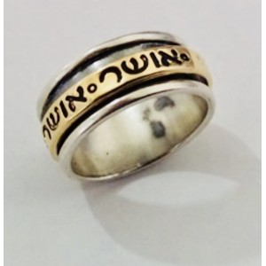 Silver & Gold Hapiness Ring Osher